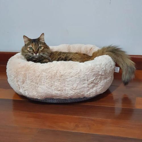 Caminha Pet Redonda De Pelúcia Para Cachorros E Gatos Tam M