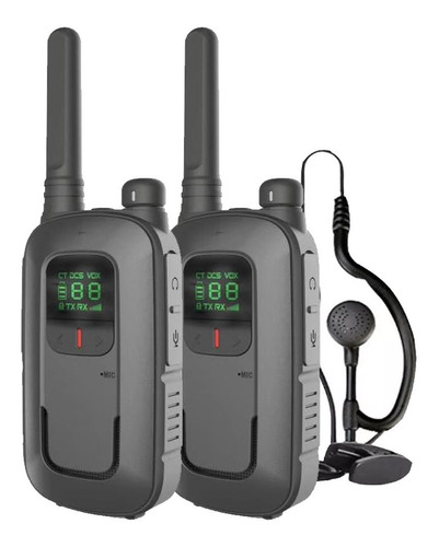 Kit X 2 Handy Baofeng Radio Walkie Talkie Bft12 16ch Uhf Lcd