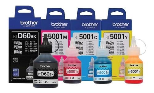 Kit De 4 Tintas Originales Brother -btd60 Bk Bt5001cmy
