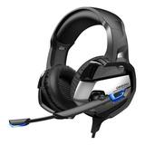 Audífonos Gamer Onikuma K5 Black Con Luz Led