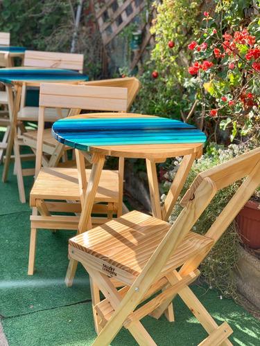 Set De Terraza Plegable Y Personalizado