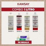 Kit Nutrientes Kawsay Veg Flora 1litro Hidroponia Sustrato