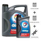 Cambio Aceite Total 7000 10w40+filtros+coloc Peug 307 2.0 8v