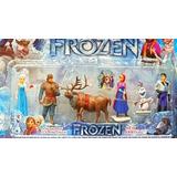 Play Set Frozen X6 Figuras 8cm Ideales Para Torta Local Caba