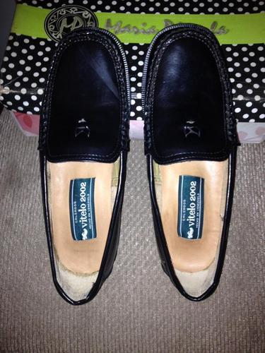 Zapatos Tipo Mocasin De Cuero