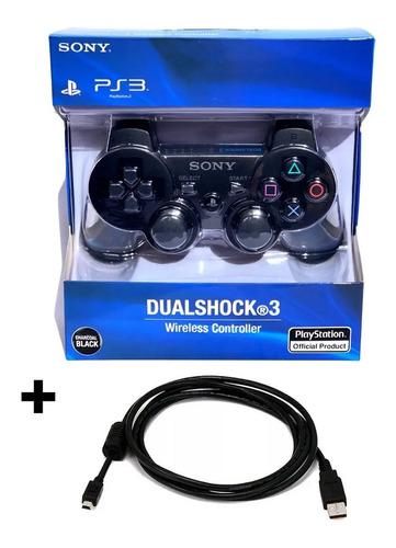 Joystick Inalámbrico Dualshock 3 Sony Ps3 Con Cable De Carga