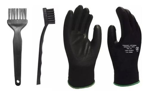 Kit Limpeza Pcb Luva Anti-estática Pincel Escova Esd Eletro