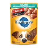 Alimento Pedigree Ao Molho Razas Pequeñas Para Cachorro Adulto De Raça Pequena Sabor Carne Em Sachê De 100g