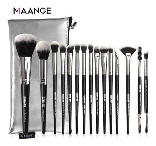 Brochas Para Maquillaje Premium Suaves Y Firmes, 15 Unidades