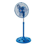 Ventilador 3 En 1 Suzika Sz-ven5005 Azul Con 3 Palas Color  Plateado De  Aluminio, 10  De Diámetro 220v