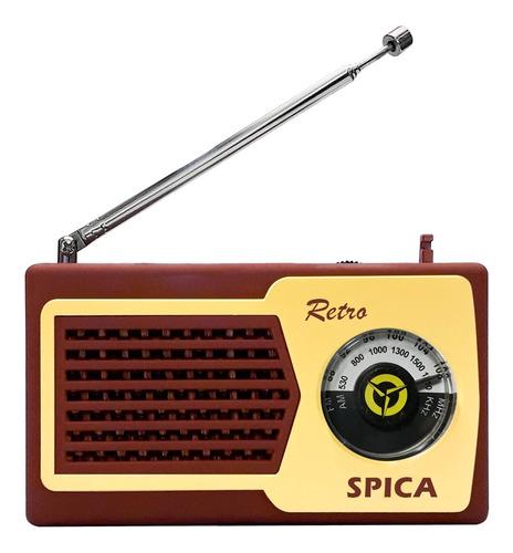 Radio Portatil Retro Vintage Spica Sp580 Am/fm Pila Colores