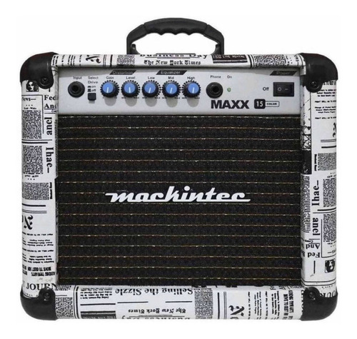 Cubo Amplificador De Guitarra - Maxx 15 Mackintec - Jornal