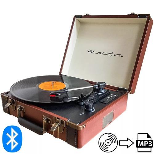 Tocadiscos Winco W407 Bluetooth Valija Wincofon Mp3 Usb