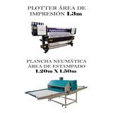 Plancha Neumática 1.20m X 1.50m + Plotter De Impresión 1.3m