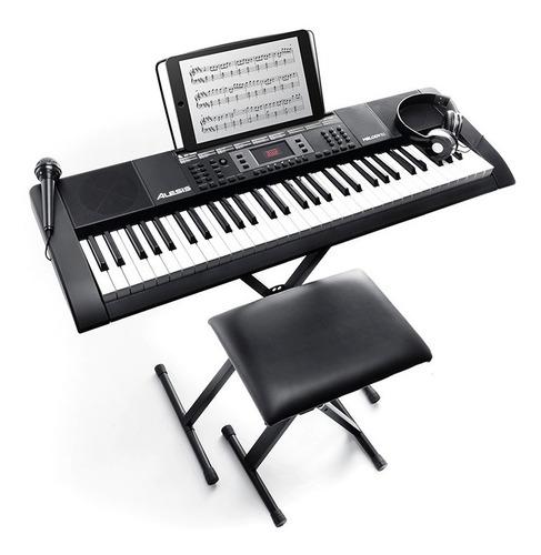 Piano Kit Alesis Melody61 Mkii+ Banco+ Soporte+ Adap+ Audifo