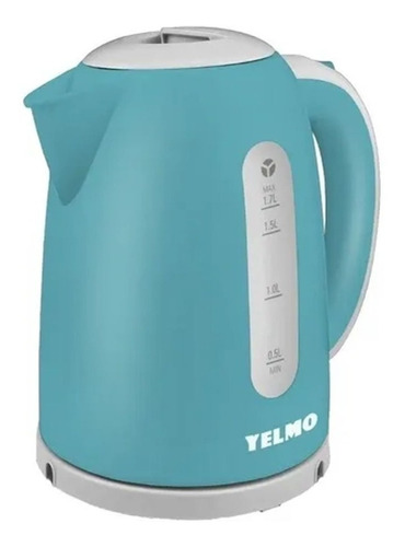 Pava Eléctrica Yelmo Pe-3909 Desayuno Color Celeste 220v 1.7l