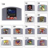 Para Nintendo 64 N64 Mario Smash Bros Zelda Vídeo Juego De C