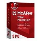 Promocion Mcafe 2021 Total Protection 3 Años 3 Pc Tecnoarte