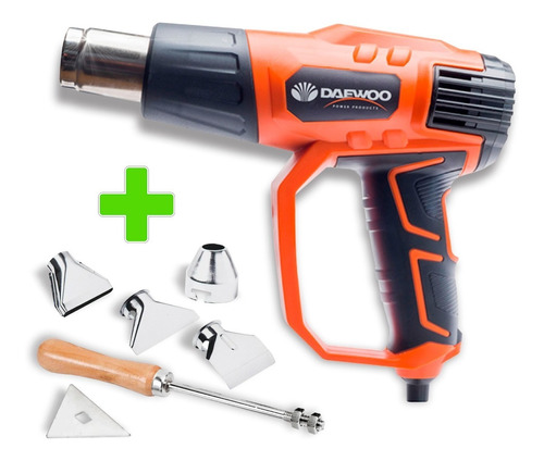 Pistola De Calor Electrica 2000w Daewoo + 5 Accesorios