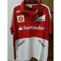 Camisa Polo Ferrari Santander Team Vermelha Original
