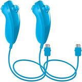 Afunta Control Nunchaku  Nintendo Wii U Azul Claro 2u.