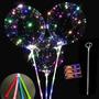 Kit 10 Unidades Balão Led Gigante C Vareta + Pilhas Brinde B Original