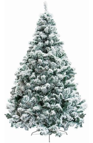 Arbol Navidad Nevado Artificial 2.10 M Pino Frondoso Pachon