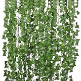 Pack 12 Tiras Planta Artificial Enrredadera 2.1m Decoración