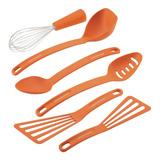 Rachael Ray Juego 6 Utensilios Cocina Cucharas Naranja