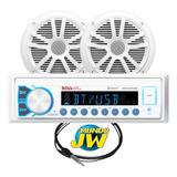 Estereo + Parlante Nautico Boss 6  Am/fm Bluetooth Usb