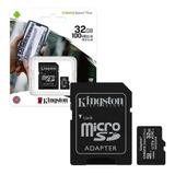 Memoria Micro Sd Kingston 32gb Clase 10 Celulares Camaras