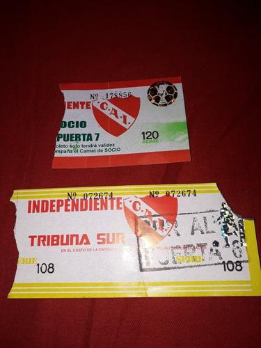 Entradas Antiguas De Independiente.