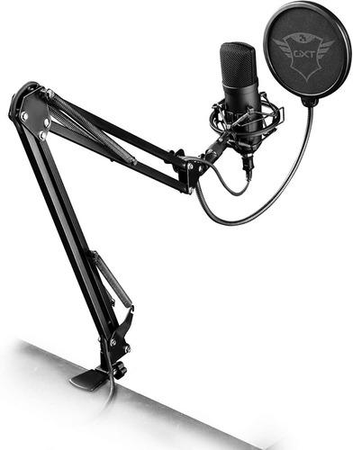 Microfono Gamer Condensador Ps4 Pc Gxt252+ Emita Plus Backup