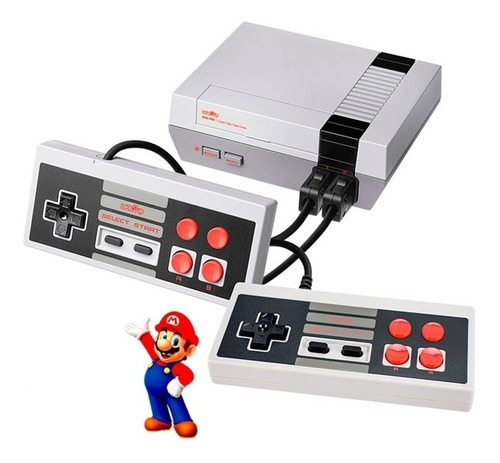 Consola Family Retro Nes Av Level Up Tv 500 Juegos De 8 Bits