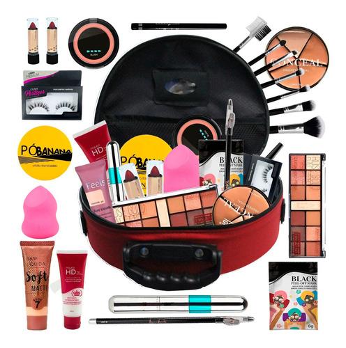 Maleta De Maquiagem Completa Profissional Ruby Rose Bz69-2