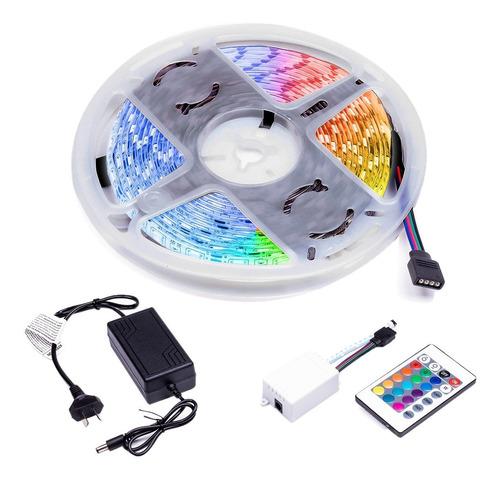 Tira Led Luces Colores Autoadhesivas Exterior Control Remoto