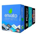 1 Ano Envato Elements + Place It + Canva + Mockups + Bônus