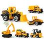 Kit 6 X Miniaturas Construção Trator Escavadeira Caminhão Original