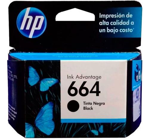 Cartucho Tinta Hp 664 Negro F6v29al Original 1115 2135 2675