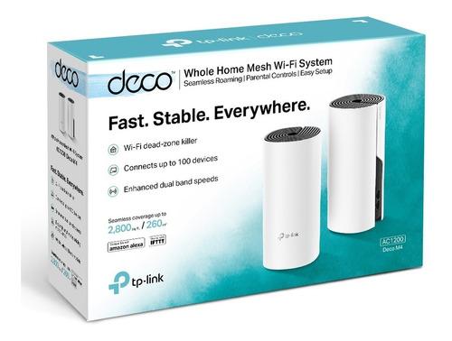 Router Acces Point Tp Link Wifi Mesh Ac1200 Deco M4 X 2 Unid
