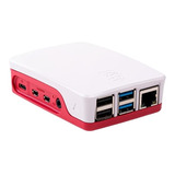 Carcasa Gabinete Case Oficial Raspberry Pi 4 Rojo/blanco
