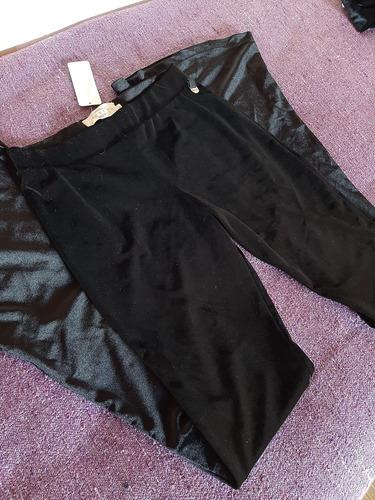 Calza Oxford Mujer Talle M De Chifon Color Negro