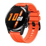 Huawei Watch Gt 2 Sport 1.39  Caja 46mm De  Metal Y Plástico  Black Malla  Sunset Orange De  Fluoroelastómero Ltn-b19