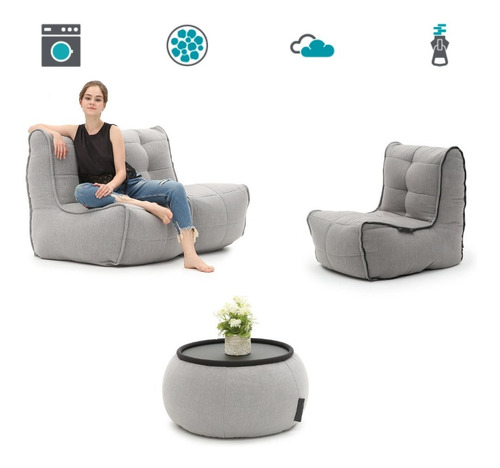 Sala Puff Sofa + Silla Biny Martin ® Original Brand