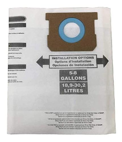 Repuesto Aspiradora Shop Vac 5 - 8 Galones, Bolsa Filtrante