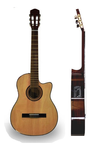 Guitarra Electroacustica Erasmo Falcon Con Corte Eq 4 Bandas