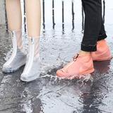 Cover Shoes De Silicon Modelo Alto Con Ziper