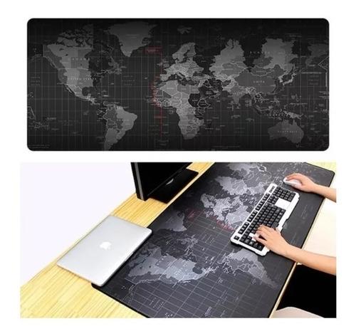 Mouse Pad Gamer Diseño Mapa Mundo 90x40 Cm