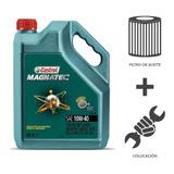 Cambio Aceite Castrol 10w40+ Fil Aceite + Coloc Ecosport 1.6