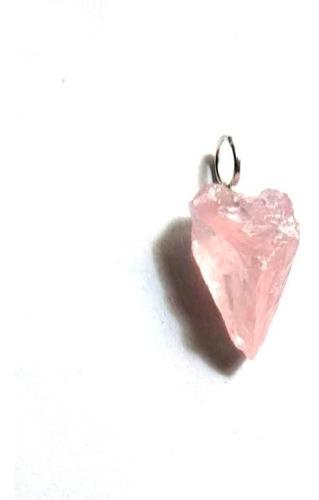 Dije Piedra Cuarzo Rosa En Bruto - Arcana Caeli